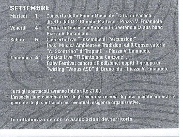 programma settembre 2015